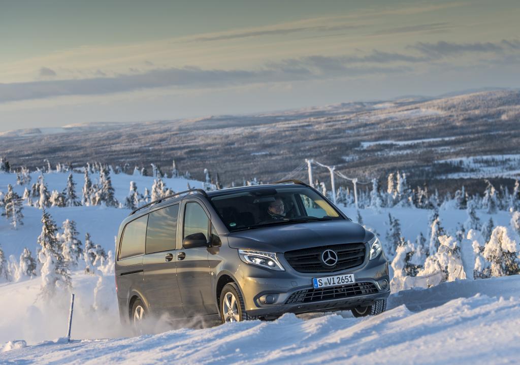 Новият Mercedes-Benz Vito 4 × 4: решаващ тласък за бизнес професионалисти – не само през зимата!